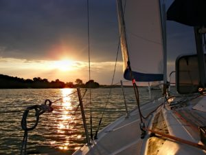 Sailboat in the sunset - Harba