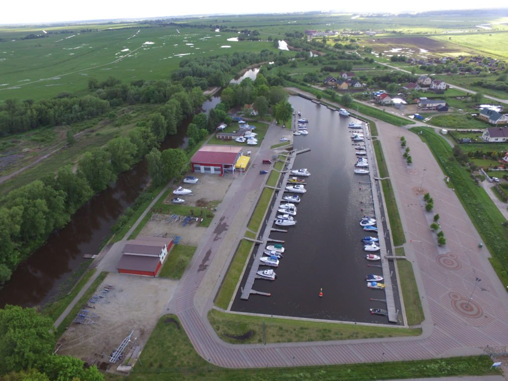 Šilutė marina from above