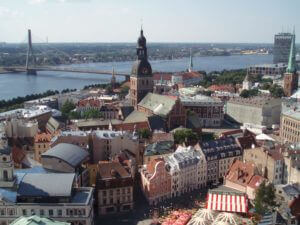 Riga old town from above