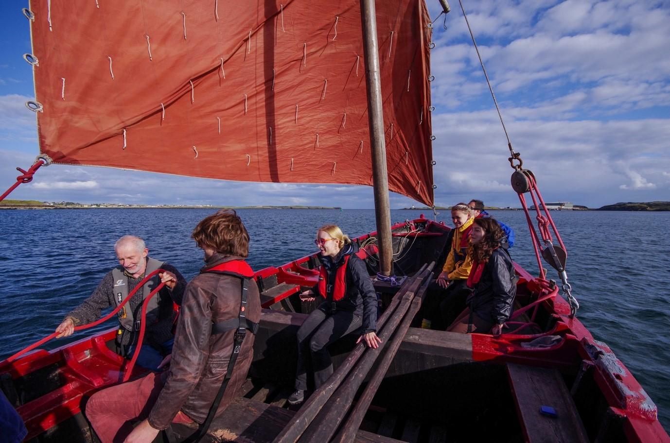 Sailing a historic 'Sgoth' in Stornoway