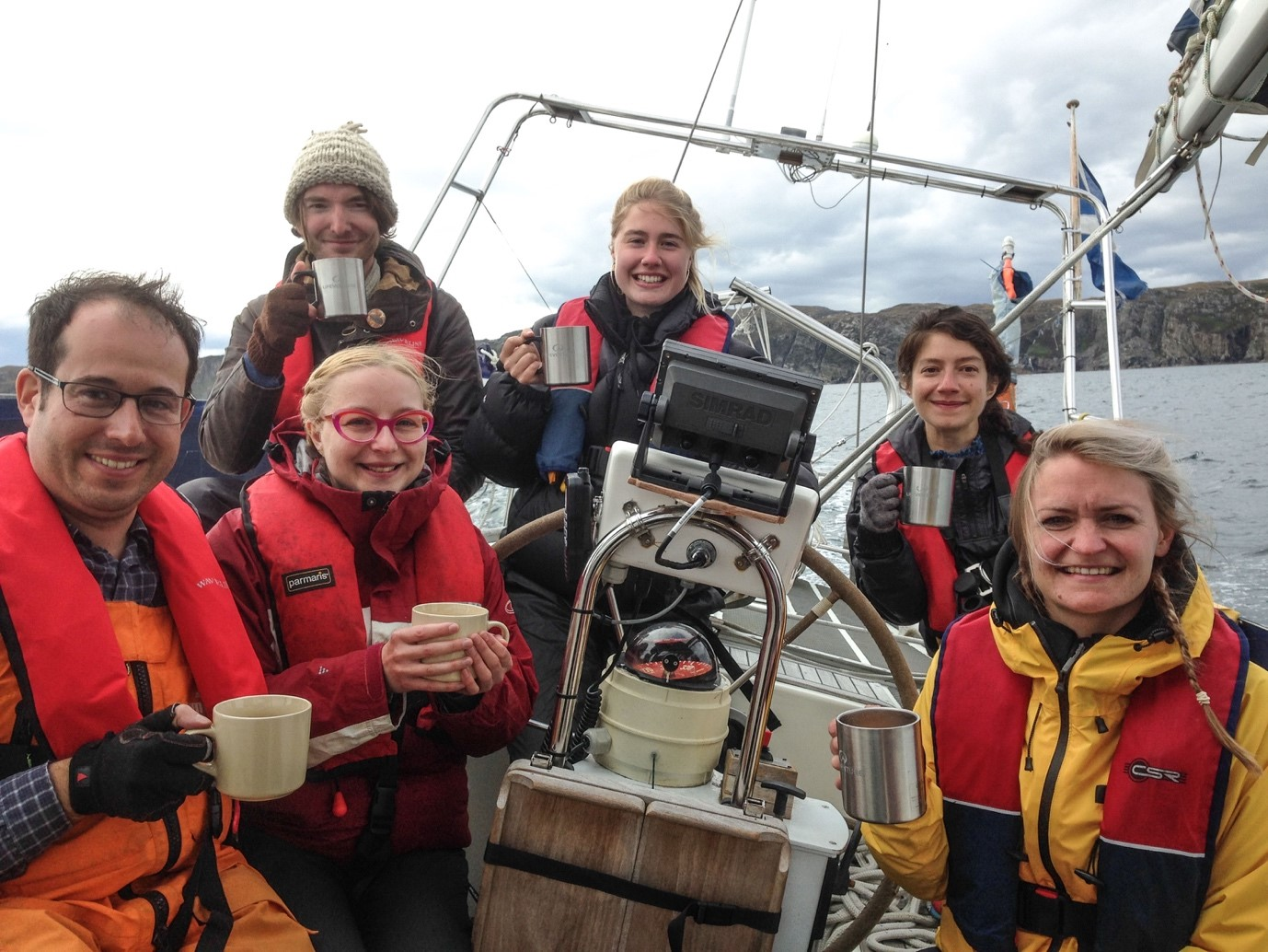 The Sail Britain crew in the Outer Hebrides
