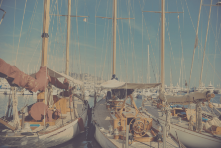 sailboats at the harbour
