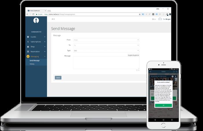 Marina Management Software HarbaMaster Messaging Module