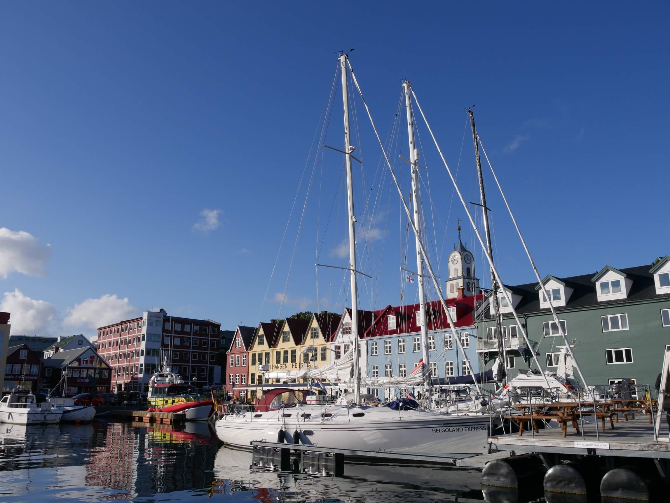 Yacht in Torshavn Faroe Islands