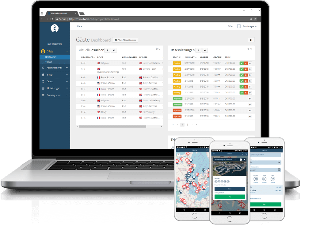 HarbaMaster marina management software guest module - de