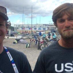 Judge Ryan and Hans Henken USA 49'er team at Aarhus