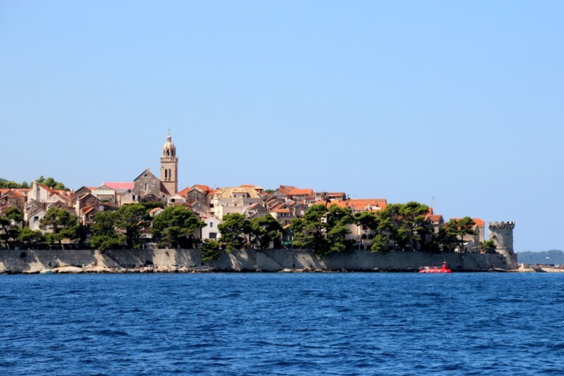 Banja-Korcula view from the sea