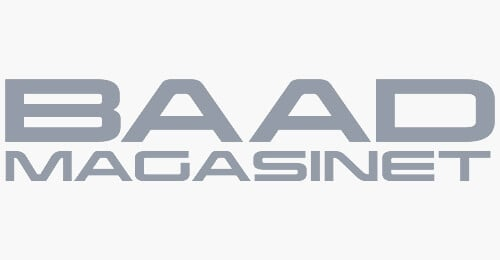 Baadmagasinet logo grey
