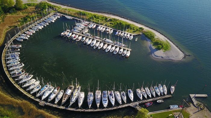 Neustaedter-Segler-Verein marina from above