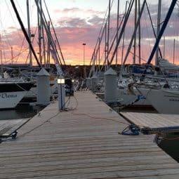 Yachts-docked-at-Nida-marina