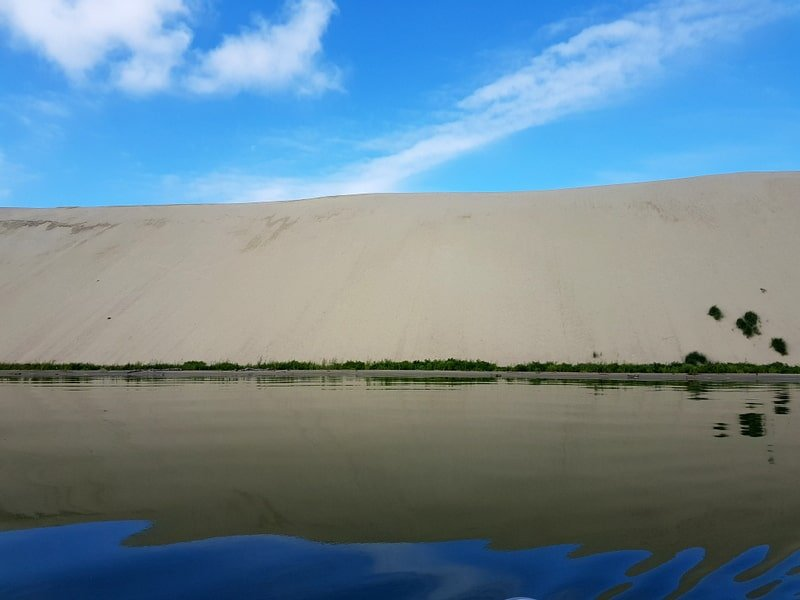 Parnidis dune from the sea