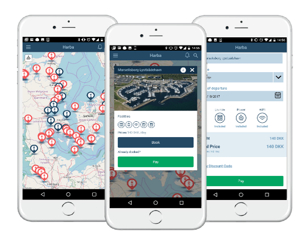HarbaApp mobile app for marinas