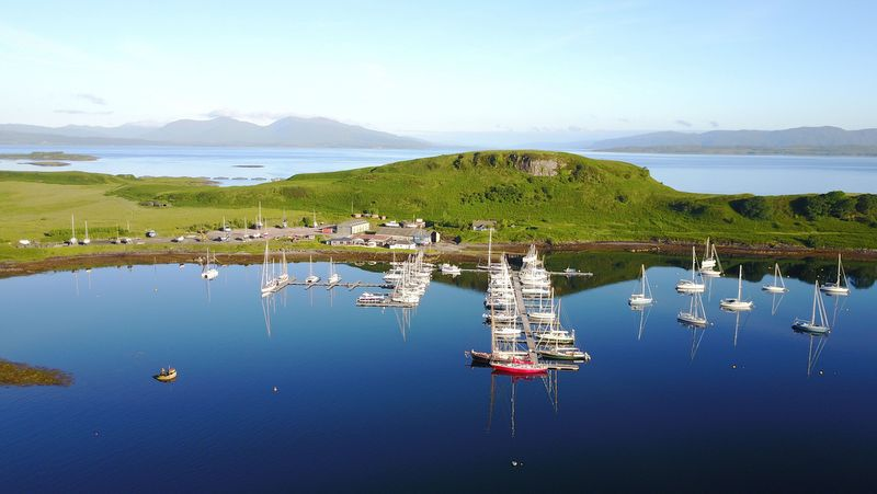 Oban marina from above