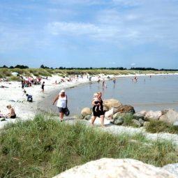 Beach nearby Hou marina in North Jutland