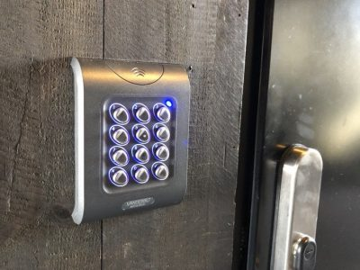 Access control device at Vejle marina