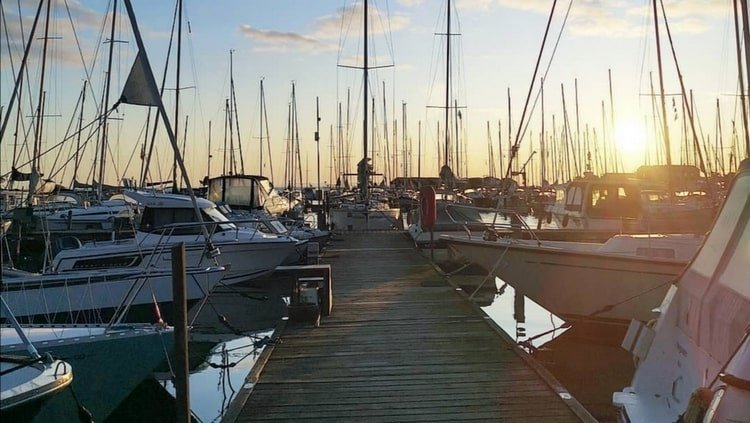 Niva Havn sunset