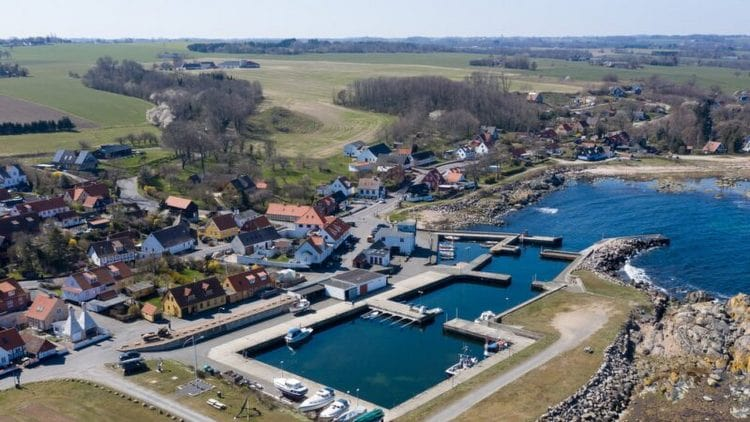 Listed marina view from above