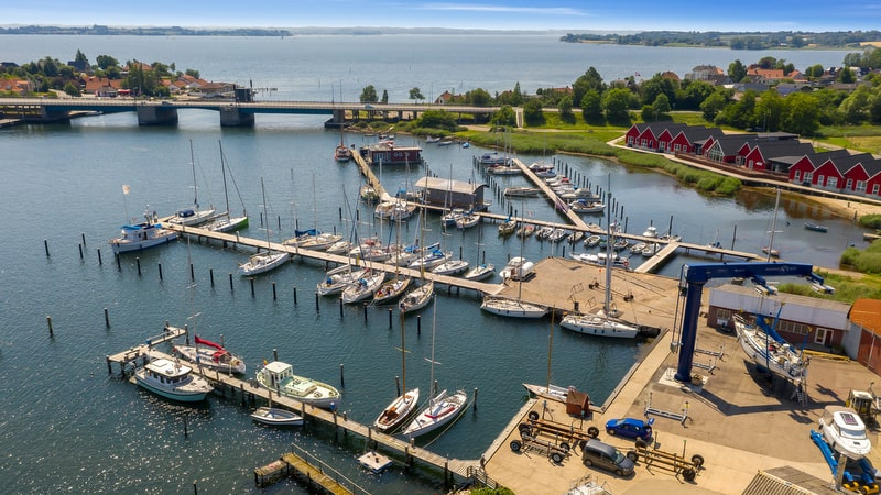Marina Toft berths from above 2