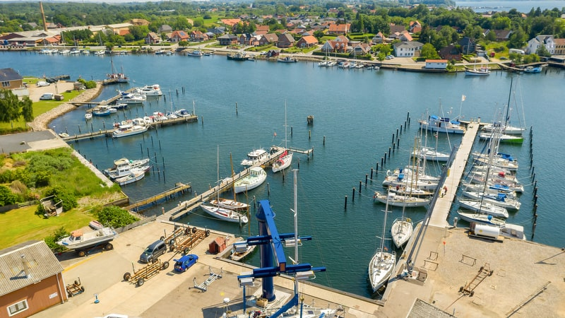 Marina Toft berths from above