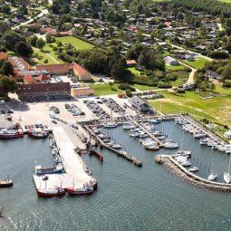Snaptun marina from above