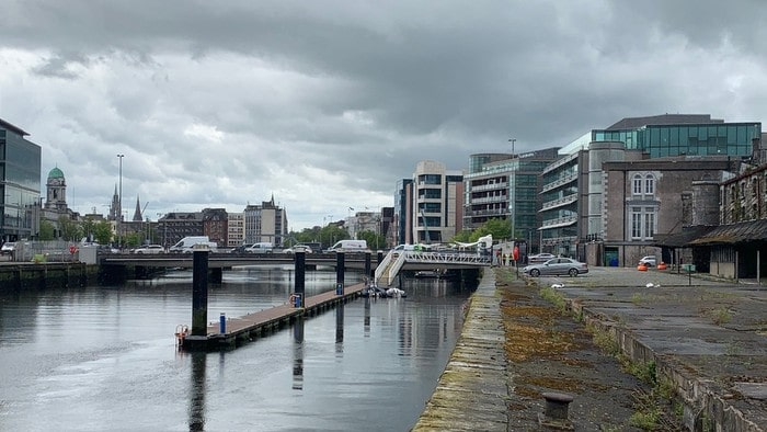 Cork City Marina with city view in the background