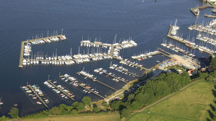 Roskilde marina from above