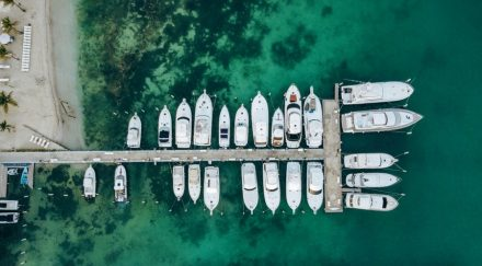 Yacht club from above